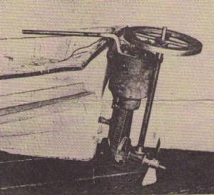 Kézi hajtású csónakmotor