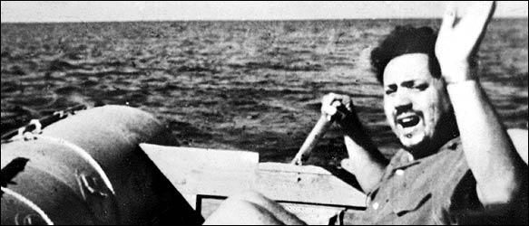 Alain Bombard és a felfújható hajója