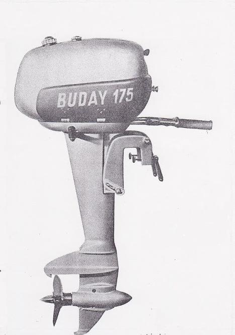 A 175cm3 Buday csónakmotor