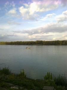 Latorca halad a Duna Dunaföldvári szakaszán
